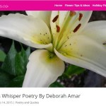 "Teleflora Features Poem ""Lilies Whisper Poetry"""